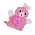 Cute Cartoon Baby Bath Sponge Gentle Exfoliating Bath Glove (Pink)