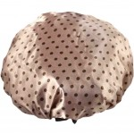 Set of Two Waterproof Double Layer Shower Cap Spa Bathing Caps(Brown)