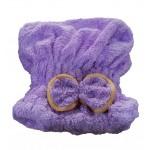 Microfiber Bath Towel Hair Dry Hat Quick Drying Bath Cap For Short Hair(Purple)