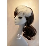 Hand Made Elegent White Feather Netting Bridal Veil With Hairpin