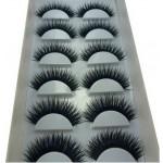 Long and Thick Eyelashes Smoky Eyes False Eyelashes BLUE & BLACK Style 6 Pairs
