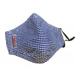 PM2.5 Adults Cotton Mask For Anti-smog with Activated Carbon (Blue Checkered)