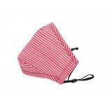 PM2.5 Adults Cotton Mask For Anti-smog with Activated Carbon (Red Checks)