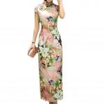Flora Chinese Style Cheongsam Dress Party Dress Qipao Modern Cheongsam Cocktail