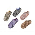 Fashion Men's Cotton Boat Socks Comfort Four Seasons No Show Socks, 5 pairs (A)