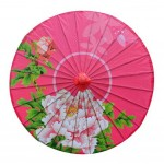 Chinese Handmade Oiled Paper Umbrella 33-Inches Non Rainproof Outdoor Umbrella