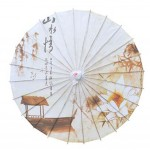 Handmade Oiled Paper Umbrella Chinese Style Office Gifts 33-Inch Non Rainproof