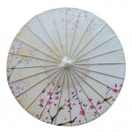 Office Gifts Handmade Oiled Paper Umbrella Chinese Style Non Rainproof 33-Inch