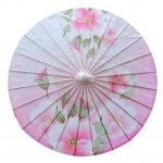 Chinese Style Oiled Paper Umbrella Handmade Office Gifts Non Rainproof 33-Inch