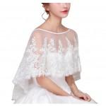 Fashion Style Women's Wedding Dresses Lace Bridal Shawls W