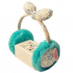 Fashion Floral Lace Earmuff Faux Fur Green Ear Protect