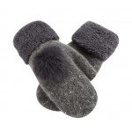 GREY, Woollen Gloves Lovely Best Winter Gloves Women Mitten to Keep Warm