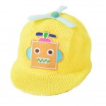 Baby Boys Straw Hat Yellow Robot Baseball Cap 3-6 Months