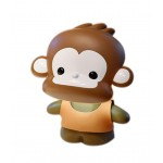Creative Auspicious Brown Monkey USB Lamp, Rechargeable LED Reading Lamp