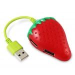 High-Speed USB 2.0 4-Port USB Hub Creative Strawberry USB Hubs