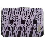 New Style 13 Inch Laptop / Notebook Computer / MacBook Sleeve PURPLE Letters