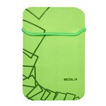Stylish 7 Inch Double Color Double Sided Laptop Sleeve GREEN & GREY