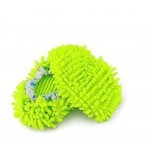Multi-Function Chenille Fibre Washable Dust Mop Slippers-Green