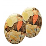 Set of 2 Retro Tin Boxes, Pill Boxes-The Character Series