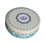 Round Cute Pill Boxes Candy Metal Case Storage Box, Imperial Crown