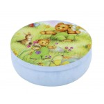 Round Cute Pill Boxes Candy Metal Case Storage Box, Bear And Meadows