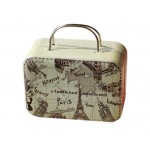 Rectangle Cute Pill Boxes Candy Metal Case Storage Box, Map