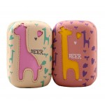 1 Pcs Cute Giraffe Animal Contact Lenses Box Cases/Holders, Random Color