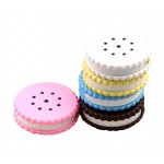 2 Of Cookie Shaped Contact Lenses Box Holders, Random Color