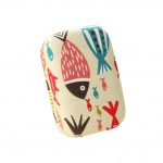 Creamy White Cute Fish Pattern Lenses Holder Portable Contact Lenses Cases
