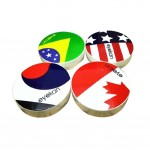 Frag Style Multi-color Plastic Material Contact Lenses Cases 7x7x2 cm
