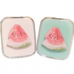 Summer Style Fresh Contact Lenses Case Nursing Holder, Watermelon, Random Color