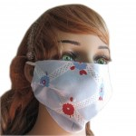 Summer Popular UV Protection Dust Proof Mulberry Silk Sanitary Mask- Argyle