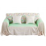 200*260CM Loveseat Furniture Protector Slipcover, Oyster Green