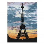 [Eiffel Tower] DIY Cross-Stitch 11 CT Embroidery Kits Room Decorations(9*13.1'')