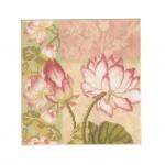 PANDA SUPERSTORE [Elegant Lotus] DIY Cross-Stitch 11CT Embroidery Kits Room Decoration(9.4*9.4'')