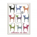 PANDA SUPERSTORE [Nine Cats] DIY Cross-Stitch 11CT Embroidery Kits Room Decors,14.1*18.5''