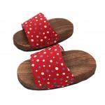 Non-slip Massage Wooden Slippers Fashion Clogs(Red Bubble)