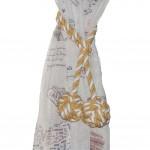 Curtain Tassel Hand-woven Cotton Rope Curtain Tiebacks Curtain Holders, A Pair