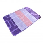 Purple&White Striped Fuzzy Chair Mats Dural Fashion Chair Carpet 40*60cm