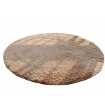 Nonabrasive Round Chair Mats Fuzzy Durable Chair Carpet 100*100cm (Light  Camel)