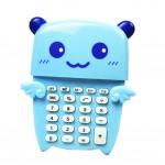 Creative Portable 8 Digitals Blue Little Bear Mini Solar Pocket Calculator