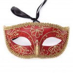Children Toy Kids Halloween Mask Masquerade Costume Mask Handmade (16.5x8 cm)