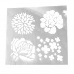 Painting Drawing Planner Stencil Drawing Template Ruler White 6 Pcs
