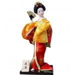 Japanese Geisha Doll Holding A Fan Furnishing Articles, Random Style