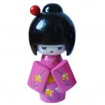 Cute Shy Girls Japanese Kimono Doll Toy for Home Office Desk Decorative,Rose