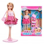 Fashion Girls Doll Toy Girls Collection Rarity Doll Giftset Dress Up Set(A010B)