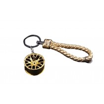 Online Fashion Key Ring Personalized Gold Color Car Key Chain