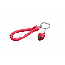 Online Fashion Helmet Keychain Personalized Car Key Chain Red