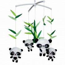 [ Cute Pandas ] Lovely Infant Music Mobile Handmade Baby Crib Mobile