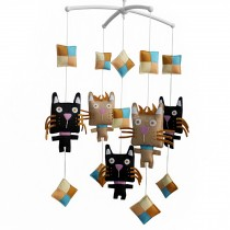 [Muzzy Cat] Baby Crib Mobile Handmade Musical Mobile for Cribs